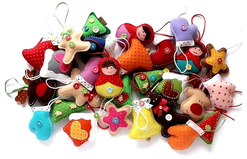 Елочные игрушки из фетра