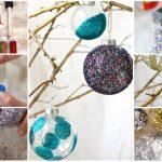 Фото 30: Новогодние шары с блестками