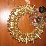 Фото 39: Рождественский венок из макарон