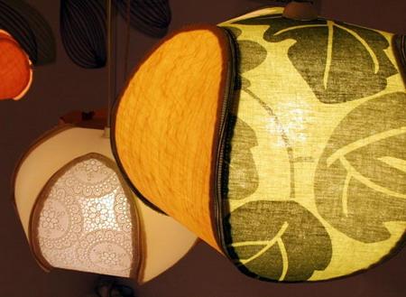 светильник в японской спальне