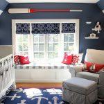 Фото 86: Детская комната для новорожденных в морском стиле