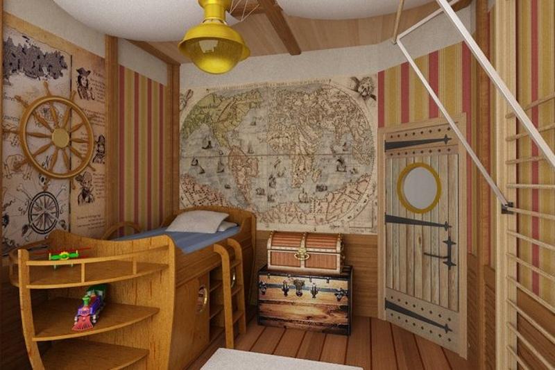 Детская комната в виде каюты капитана