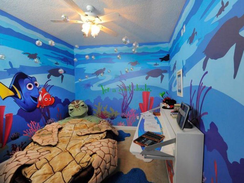 """Детская комната в стиле мультфильма """"В поисках Немо"""""""