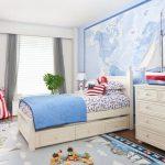 Фото 42: Обои с картой в морском стиле в детской