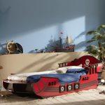 Фото 59: Кровать – пиратский корабль в детской для мальчика