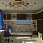 Фото 28: Рисунок компаса на потолке в морском стиле