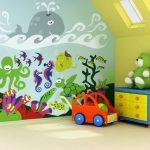Фото 108: Роспись стен в морском стиле для малышей