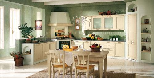 Пастельные тона в интерьере кухни в стиле кантри
