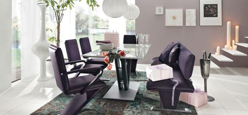 Интерьер гостиной в сиреневом цвете;