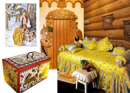 Интерьер детской комнаты принцессы в русском стиле