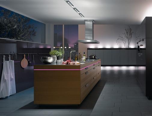 светодиодная подсветка на кухне