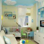 Фото 86: Подвесной потолок в комнате для новорождённого