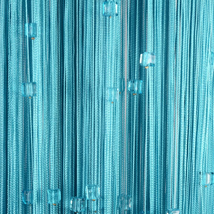 Нитяные шторы с бусинами