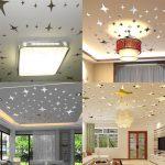 Фото 76: Потолок в виде звезд в интерьере