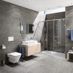 Фото 113: Ванная с душевой в стиле минимализм