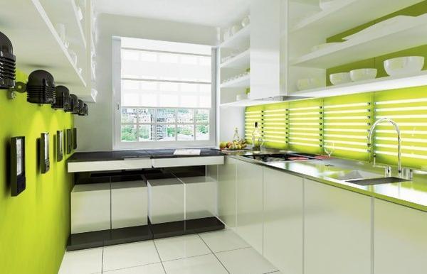 Рабочая зона на узкой кухне