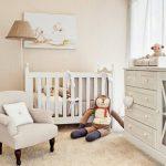 Фото 81: Детская комната для новорождённой девочки в бежевых тонах