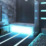 Фото 117: Ванная с подсветкой в стиле хай-тек