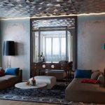 Фото 77: Зеркальный многогранный потолок