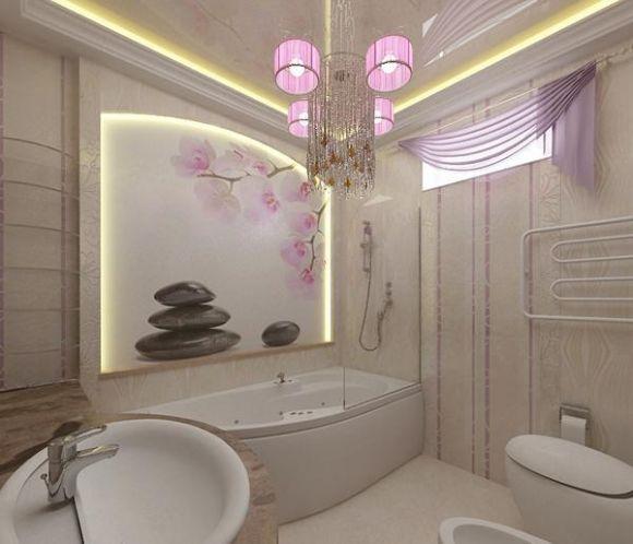 Стикеры орхидея в ванной комнате