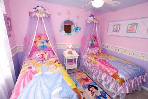 Комната для двойняшек-девочек
