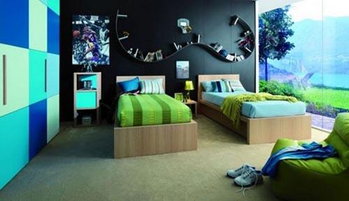 Детская комната для двойняшек-подростков