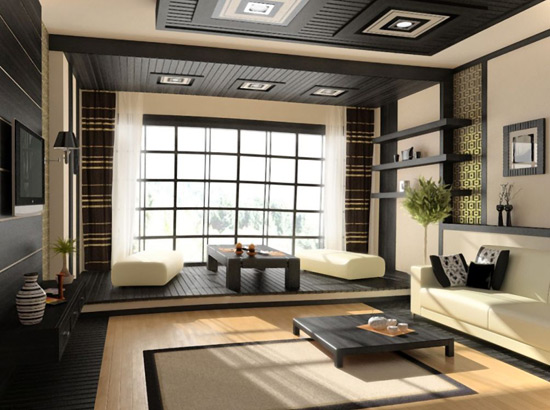 кухня-гостиная в японском стиле