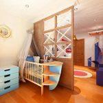Фото 56: Отделение зоны детской перегородкой