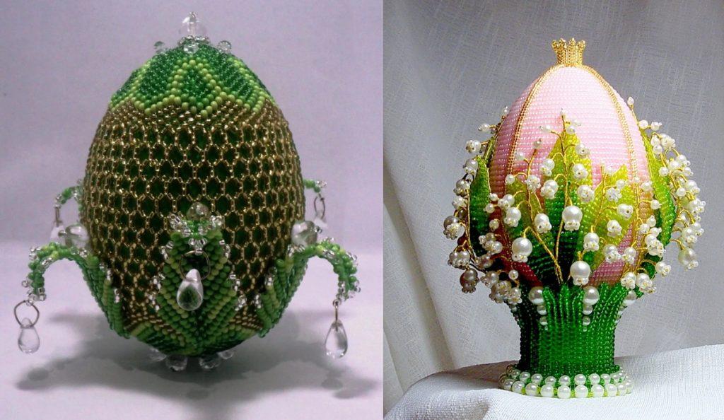 Яйца из бисера в стиле Фаберже