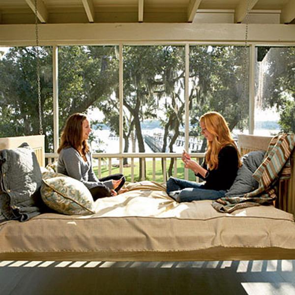 custom-hanging-wooden-swinging-porch-bed