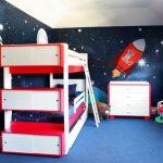 Фото 163: Дизайн детской для двух мальчиков в космическом стиле