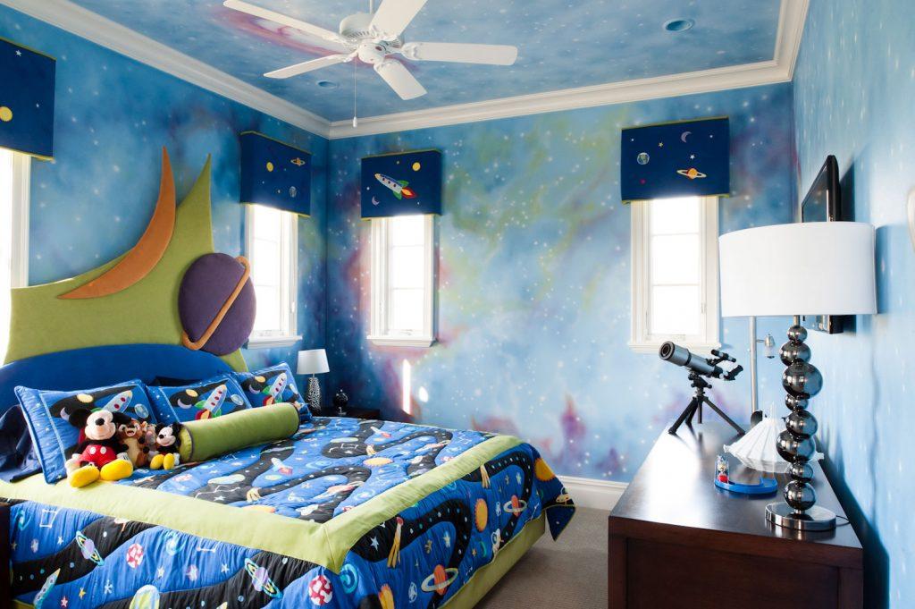 Дизайн детской комнаты в космическом стиле