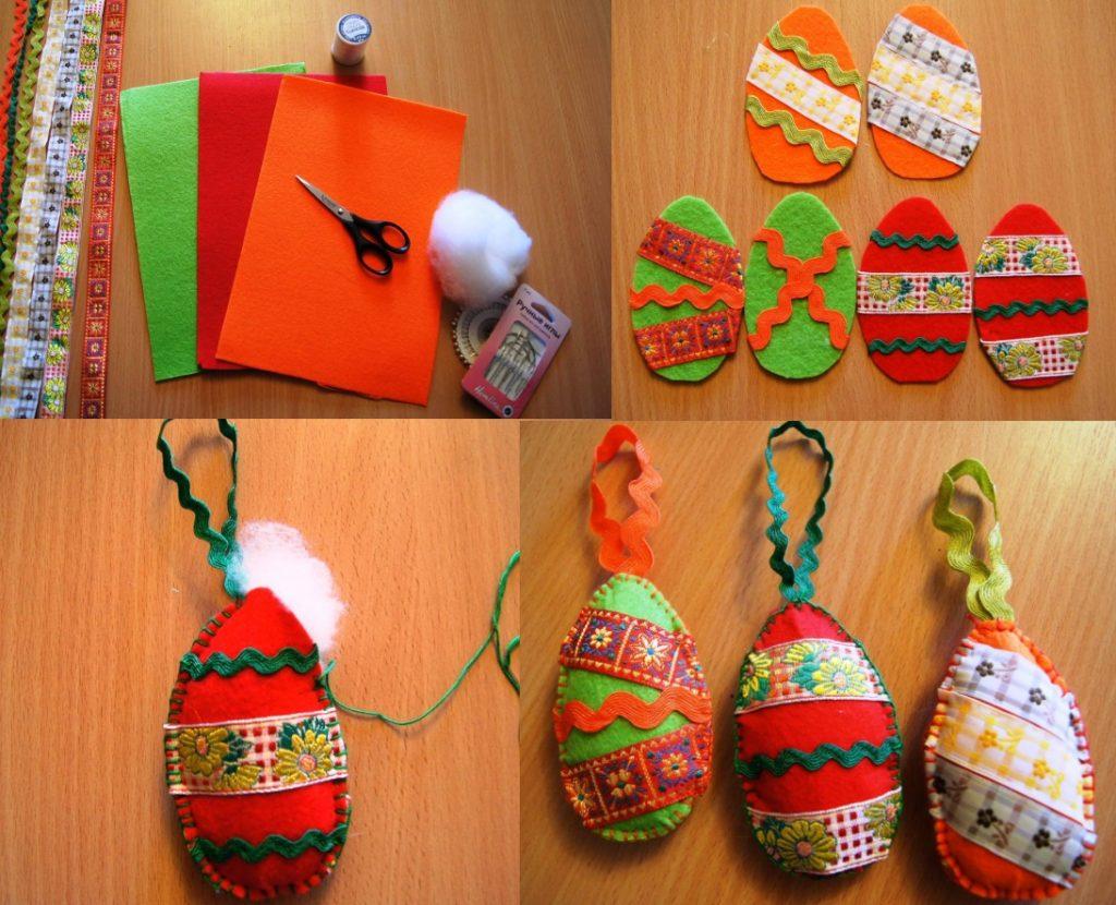 Изготовление яиц из фетра