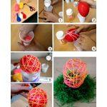 Фото 78: Изготовление яиц из ниток и шара