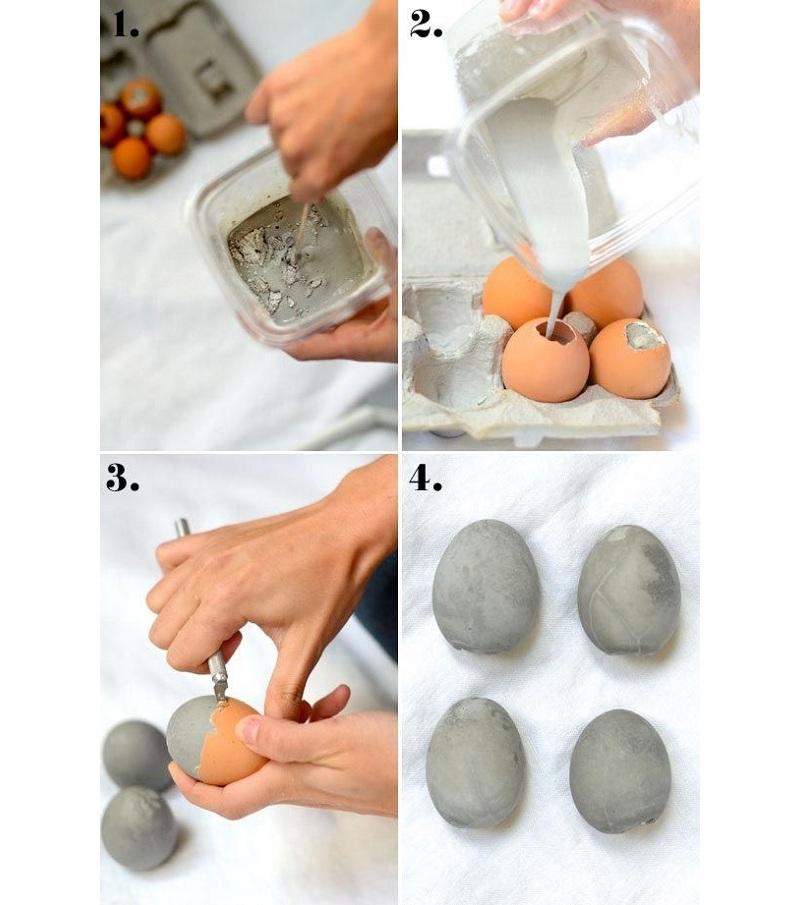 Изготовление яйца из гипса в скорлупе