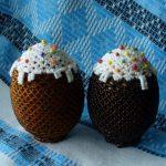Фото 53: Украшение яйца под кулич бисером