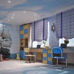 Фото 85: Потолок –небо в детской для мальчика