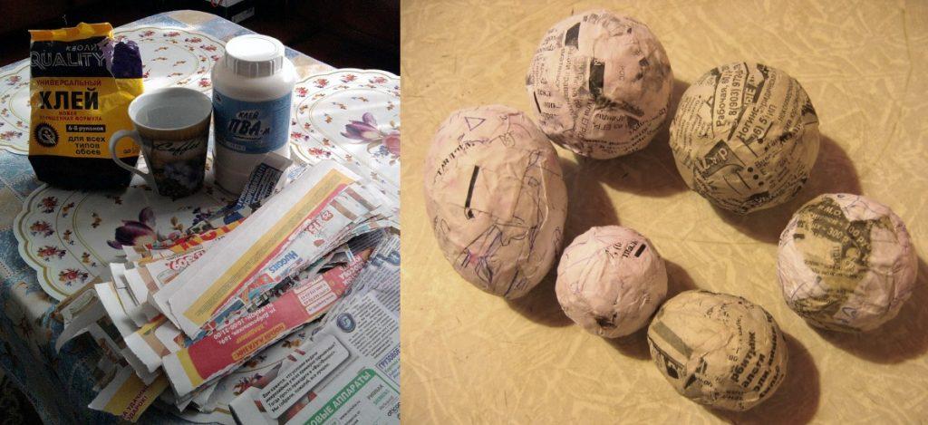 Формы яиц из папье маше