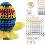 Фото 35: Радужная обвязка бисером яйца
