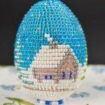 Фото 50: Яйцо, украшенное бисерным рисунком