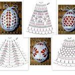 Фото 70: Схема обвязки яиц крючком