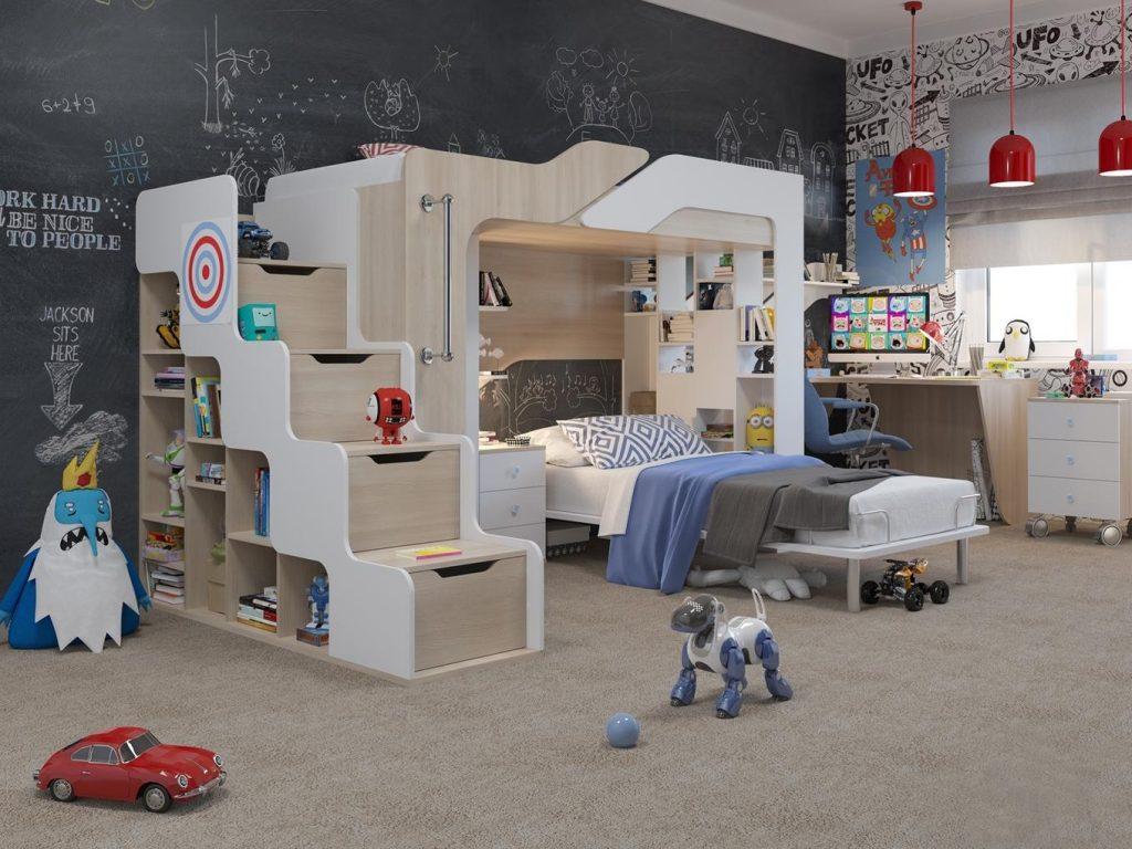 Мебель в детской для мальчика