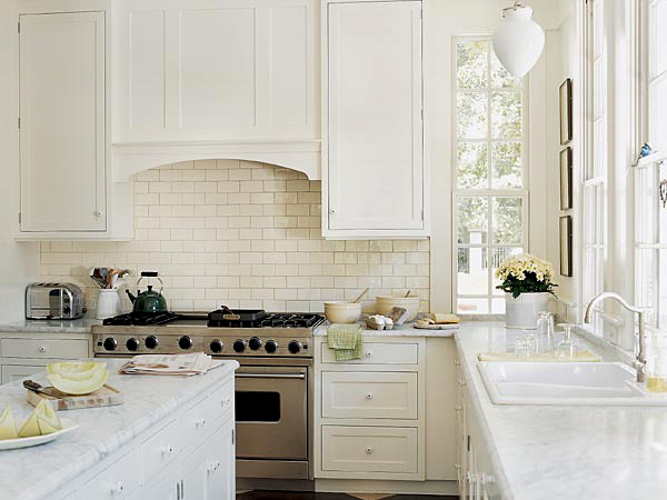 Плитка под кирпич на кухонном фартуке