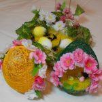 Фото 82: Украшение цветами яйца-гнезда