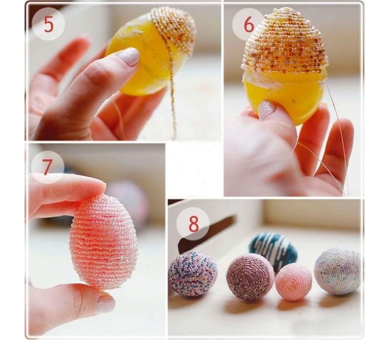 Украшение яиц бисерной леской