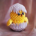Фото 88: Цыпленок из модульного оригами