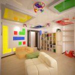 Фото 86: яркий потолок в детской