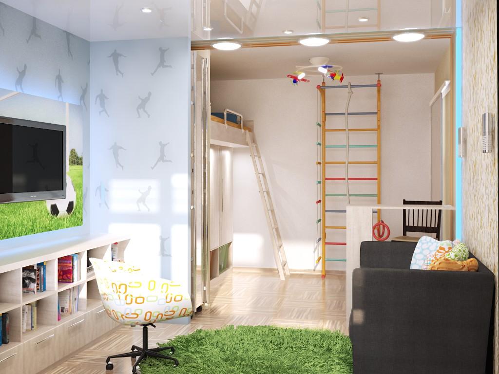 Зонирование детской комнаты при помощи освещения