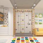 Фото 81: Зонирование комнаты для детской спортивным уголком