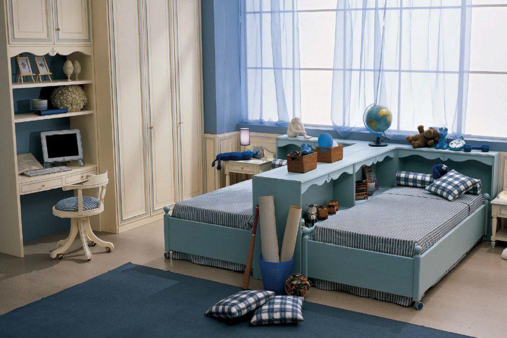 Дизайн детской комнаты для 2 мальчиков фото